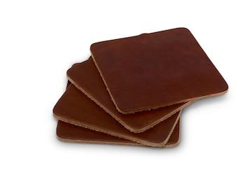 Leather Coasters - Set of 4