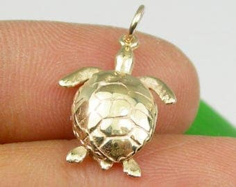 Gold Turtle Necklace Etsy