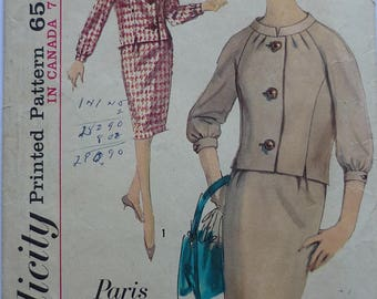 """Vintage sewing Pattern. Simplicity 5099. Two piece dress, bust 36"""""""