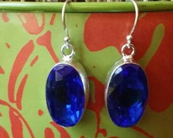SUMMER SALE 75% Off Iolite Gemstone Earrings 925 Sterling silver Jewelry TheUnlikelyBandit