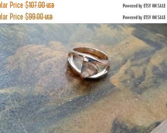 Holiday SALE 85 % OFF Rose Quartz Size 7 Ring Gemstone. 925 Sterling  Silver Tribal Ethnic