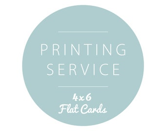 4x6 Card Printing with Envelopes - SET OF 10