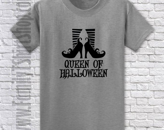 Queen Of Halloween Shoes T-shirt