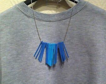 Bib 2 shades of Blue Suede