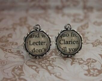 Lecter ~ Clarice Earrings  ~ Hannibal  ~  Thomas Harris ~ Hannibal Lecter ~ Clarice Starling ~