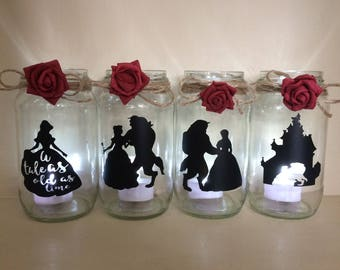 Beauty and the beast wedding etsy for Beauty and beast table decorations