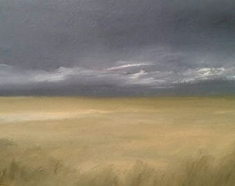 Prairie Storm - Unframed - Oil Painting On Carton Board