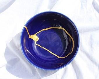 Tranquil Gleam V2 Kintsugi Kintsukuroi Bowl