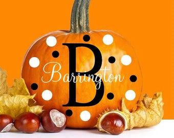 Monogram Pumpkin Decal Set
