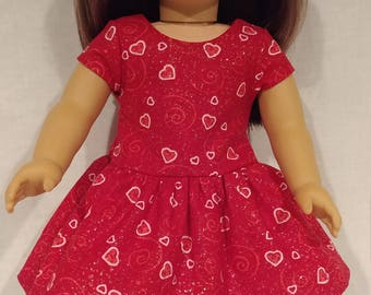 """Hearts and Swirls for the perfect Girl, your 18"""" doll, Ready to ship!"""
