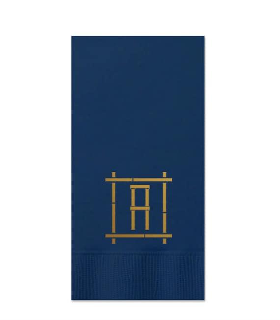 Bamboo monogram guest towel monogrammed guest towel guest bathroom towels monogrammed hand towels hostess gift paper custom hand towels