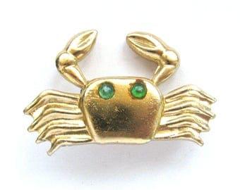 Crab, Rare Vintage metal collectible badge, Brooch, Animal, Soviet Vintage Pin, Vintage Badge, Made in USSR, 1980s