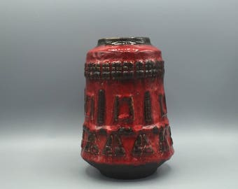 Ruscha 840 Rare ceramic vase 1970s Vintage Mid-Century Modern Pottery West Germany.  WGP.