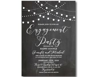 Engagement Party Invitation, Printable Engagement Party Invitation, They're Engaged, We're Engaged, Engagement Party Invitation #CL103
