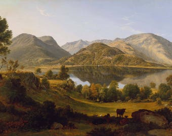 John Glover: Ullswater, Early Morning. Fine Art Print/Poster (004467)