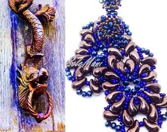"Handmade weaving earrings ""Baroque"" design SoleMani"