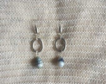 Unique Grey Earrings