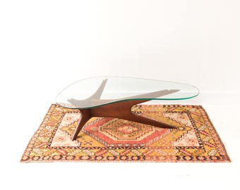 Mid Century Modern Adrian Pearsall Coffee Table - Walnut and Glass
