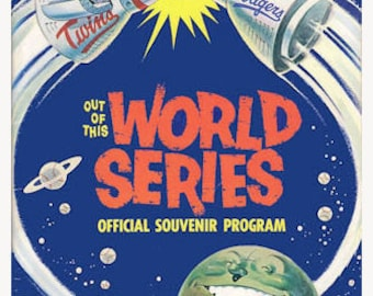 1965 World Series Poster Dodgers vs Twins