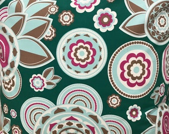 Green Boho Decor Floral Fabric. 1/2 metre. Crafting Fabric from Australian seller. Fabric by the metre.