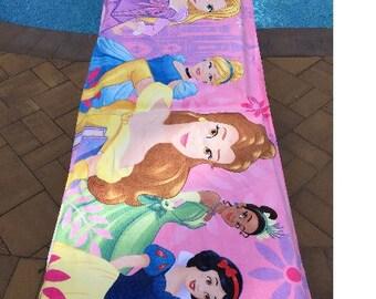 """Oversized 30""""x60"""" Disney Princess Beach Towel - Personalized Beach Towel"""