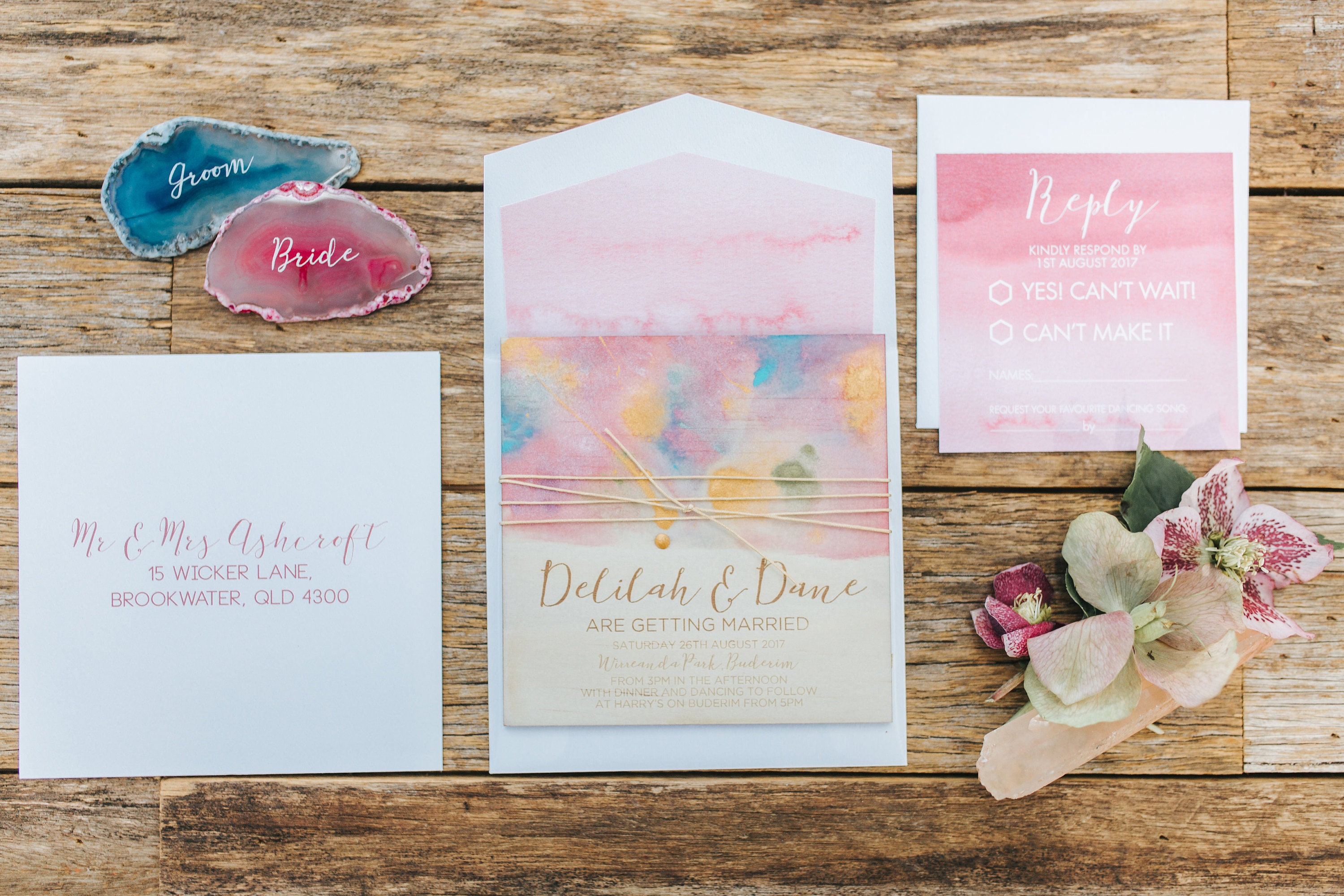 Wedding stationery The Rustic at Heart