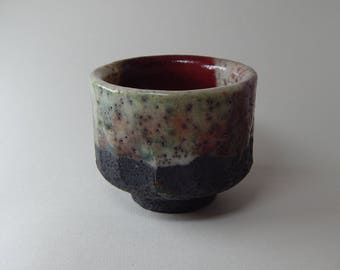 Ceramic cup, chavan, tea bowl, coffee cup, original gift, Japanese, oriental, natural, pottery, kitchen, kitchen utensils, dishes