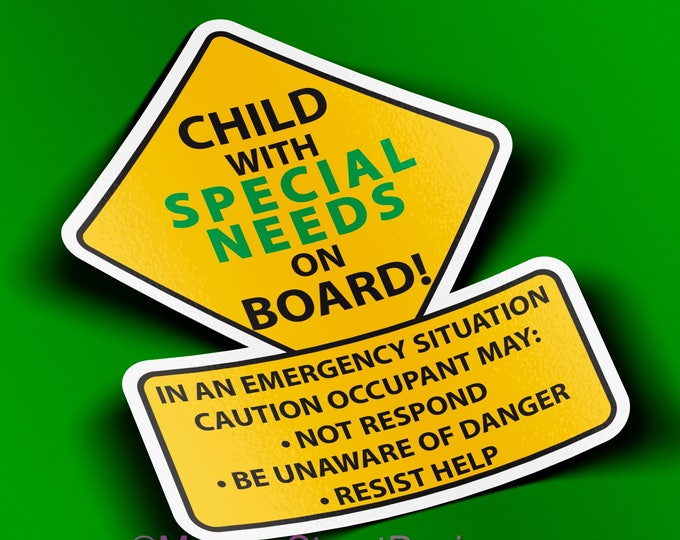 Special Needs Caution Car Truck Decal Sticker