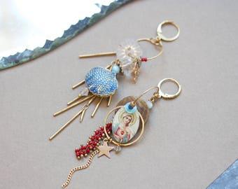 Maria Corazon - Resin earrings