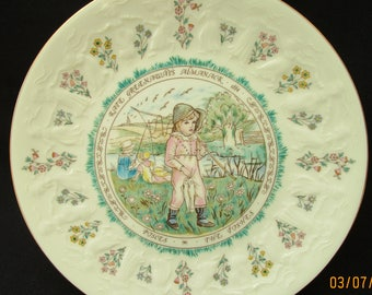 Kate Greenaway Pisces Plate. Royal Doulton 1977