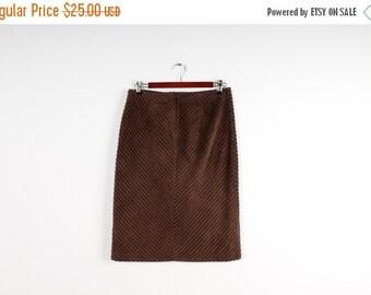 ON SALE Corduroy Skirt Brown Vintage Skirt Midi Velvet Skirt Brown Skirt 80s Skirt High Waist Skirt A line Skirt Medium