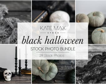 Black Halloween Stock Photo Bundle / Styled Stock Photos / 29 KateMaxStock Lifestyle Branding Images for Your Business