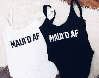 Maui'd AF Swimsuit | Just Married | Wife Swim