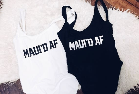Maui'd AF Swimsuit   Just Married   Wife Swim