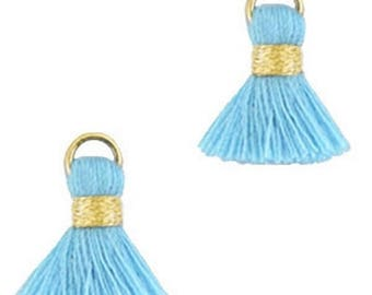 Beaded tassels, tassels, tassel pendant-1.5 cm-3 pcs.-Color selectable (color: light blue)