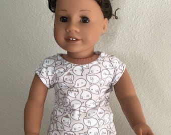 """Cap Sleeve-T fits American Girl and 18"""" dolls"""