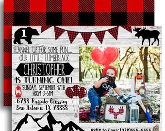 Lumberjack Birthday Invitation