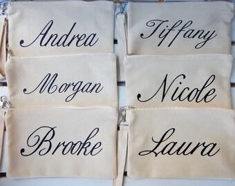 Bridesmaid Clutch, Bridesmaid Gift, Bridesmaid wristlet,Bulk bridal party gifts, Bulk Bridesmaid Gifts, Personalized Bridesmaid Gifts