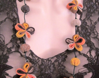 Necklace autumn fairy flowers