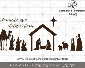Nativity svg ,Jesus is the Reason,religious christmas svg,manger svg,cricut silhouette designs,nativity scene,wise men,three kings