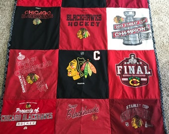 Chicago Blackhawks T-shirt Quilt