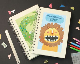 Personalised Boy's Animal Notebook (2 designs available)