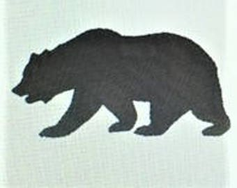 Bear Embroidery Design -  Bear Machine Embroidery Download - Cabin - Mountains - Black - Brown - Stitched - Embroidered - THREE SIZES -