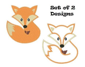 Clever Little Fox Machine Embroidery Design Embroidery Designs Foxes Animals Applique Filled Stitch 4X4 5X7 6X10 8X8 Instant Download