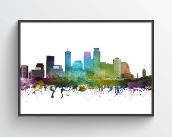 Minneapolis Poster, Minneapolis Skyline, Minneapolis Print, Minneapolis Print, Minneapolis Decor, Home Decor, Gift Idea,USMNMI01P