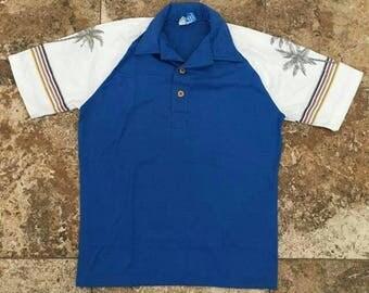 Vtg 70s OP Ocean Pacific Surf Skate Striped Polo Small Shirt