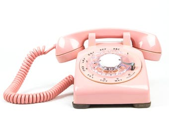 Meticulously Refurbished & Restored Vintage Western Electric Rotary Dial Phone in perfect working condition - Pink - Bespoke Piece