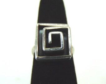 Vintage Estate .925 Sterling Silver Modern Contemporary Ring, 10.8g E3193