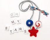 Oh my stars // woolie ball necklace