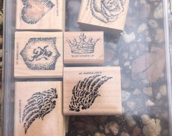 Stampin' Up! stamps set wing it with six stamps